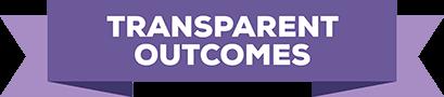 Transparent outcomes badge